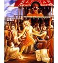 Lord Caitanya at Jagannatha Puri Ratha-Yatra
