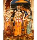 Sita, Rama, Lakshman and Hanuman
