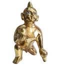 "Laddu Gopal Brass Deity 12"""