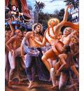 Lord Caitanya in Front of Ratha-yatra Cart