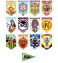 Art Flags -- Full Set -- 12 Dharma Flags plus Hanuman Free