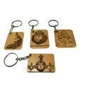 Bamboowood Krishna Keychains Set