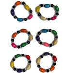 Bracelet -- Multicolor Beads -- Pack of 6