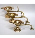 Ghee Lamp, Single Wick -- Brass