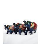 Hand-Painted Elephant Family (3 Elephant Figures)
