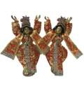 Gaura Nitai Deity Clothes -- Silk Printed Dress