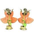 Gaura Nitai Deity Clothes -- Traditional Maple Leaf Design