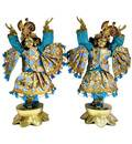 Gaura Nitai Deity Clothes -- Gold Checks with Sequins