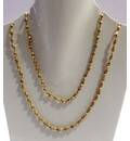 Gold Plated Silver Tulsi Necklace - Large Beads