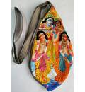 Gaura Nitai Digitally Printed Bead Bag with Embroidery