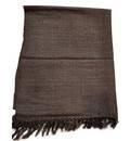 Yak Wool Stole Chaddar - Brown