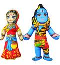 "Childrens Stuffed Toy: Lord Shiva with Parvati (Approx. 9"" high))"