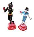 """Painted Brass Radha Krishna Deities (9"""")"""