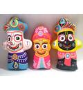 Lord Jagannatha, Baladeva and Lady Subhadra -- Childrens Stuffed Toy
