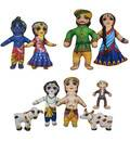 Krishna's Family & Friends Children's Stuffed Toys (set of 9)