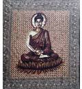 Lord Buddha Backdrop Cotton Print (220x210 cm)