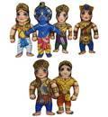 Characters of Mahabharat  Children's Stuffed Toys (set of 6)