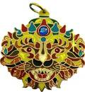 Lord Nrsimhadeva Pendant -- Copper Colored Back