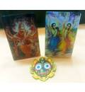 Acrylic Pictures of Lord Nrsimhadeva and Lord Caitanya with Jagannatha Magnet