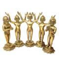 """Pancha Tattva Dieties (9"""" Solid Brass)"""