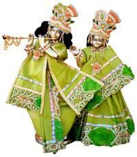 "Radha Krishna Deities (Brass 9.5"")"