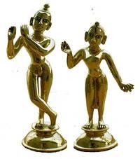 "Radha Krishna Deities (Brass 7.5"")"