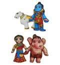Lord Shiva's Family (Set of 4 Stuffed Toys)