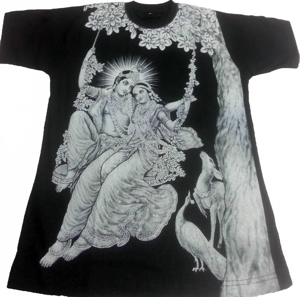 b6fbbe7a T-Shirt: Radha Krishna Black