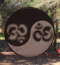 Om Yin Yang Static Decal 4""