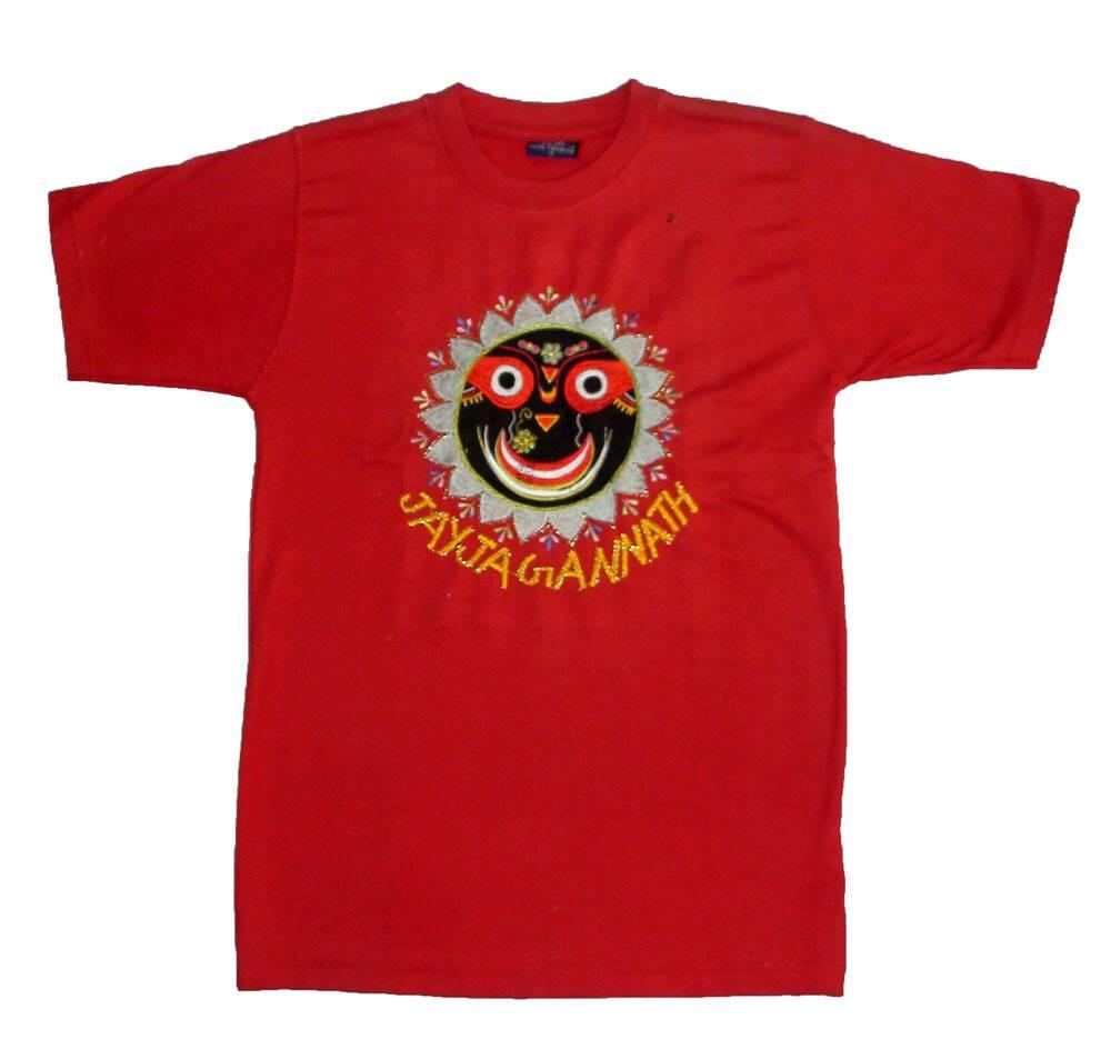 131f841d2489c4 T-Shirt: Jagannatha -- Embroided