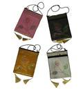 """Double Zip Bag With Traditional Indian Designs (9"""" x 7"""")"""
