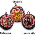 Jagannatha, Balarama and Subhadra Hanging Globes (set of 3)