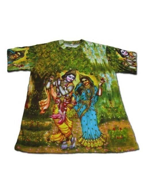 b07f6a67 Boys T-shirt: Radha Krishna -- All-Over Print. Loading zoom