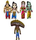 Characters of the Ramayana Children's Stuffed Toys (set of 5)