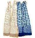 Discharge Print Harinam Neck Scarf Cotton