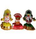 Clothes for Jagannatha, Baladeva and Subudra Deities