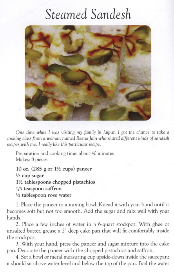 Steamed Sandesh Indian Sweet Recipe