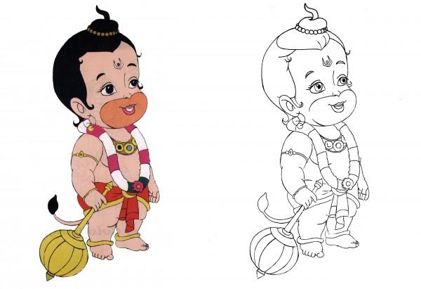 hanuman coloring book copy coloring