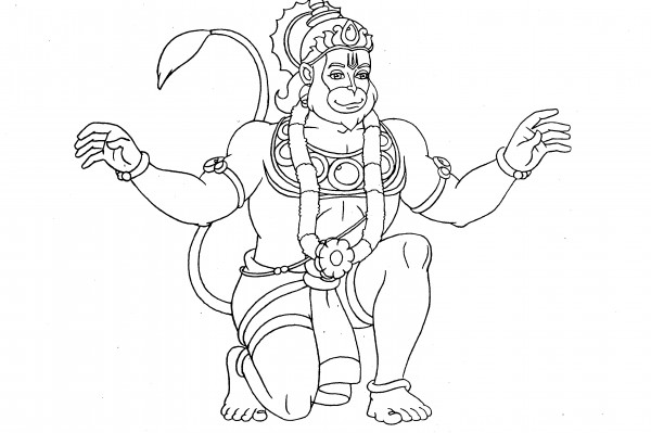 hanuman coloring book trace paint - Coloring Books For Toddlers
