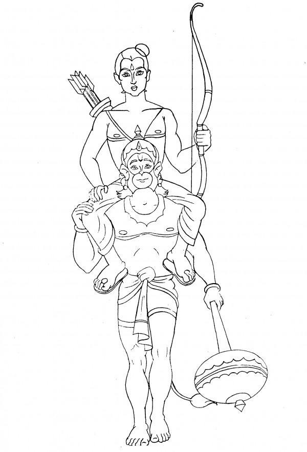 Hanuman Coloring Coloring