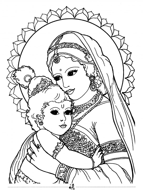 krishna pages for coloring - photo#30