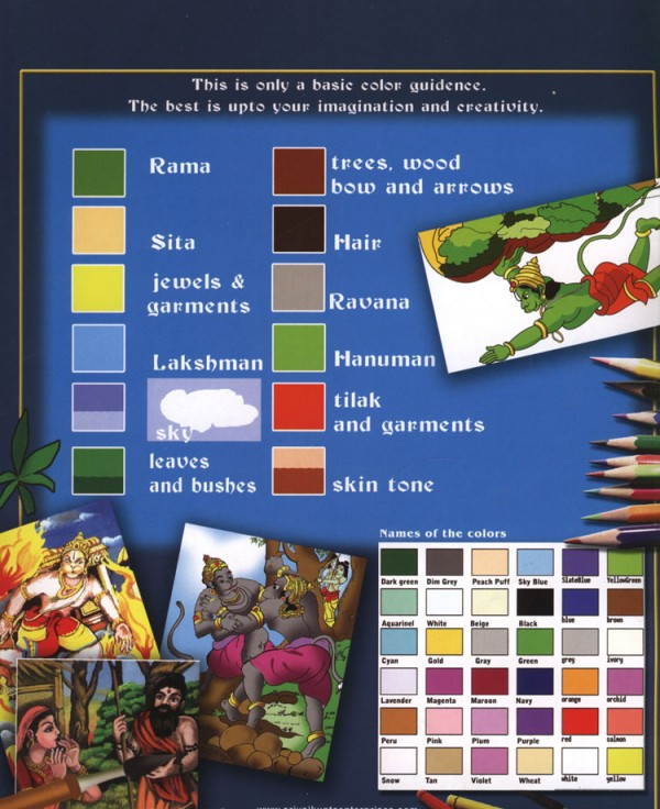 Ramayana Coloring Book Color Guide