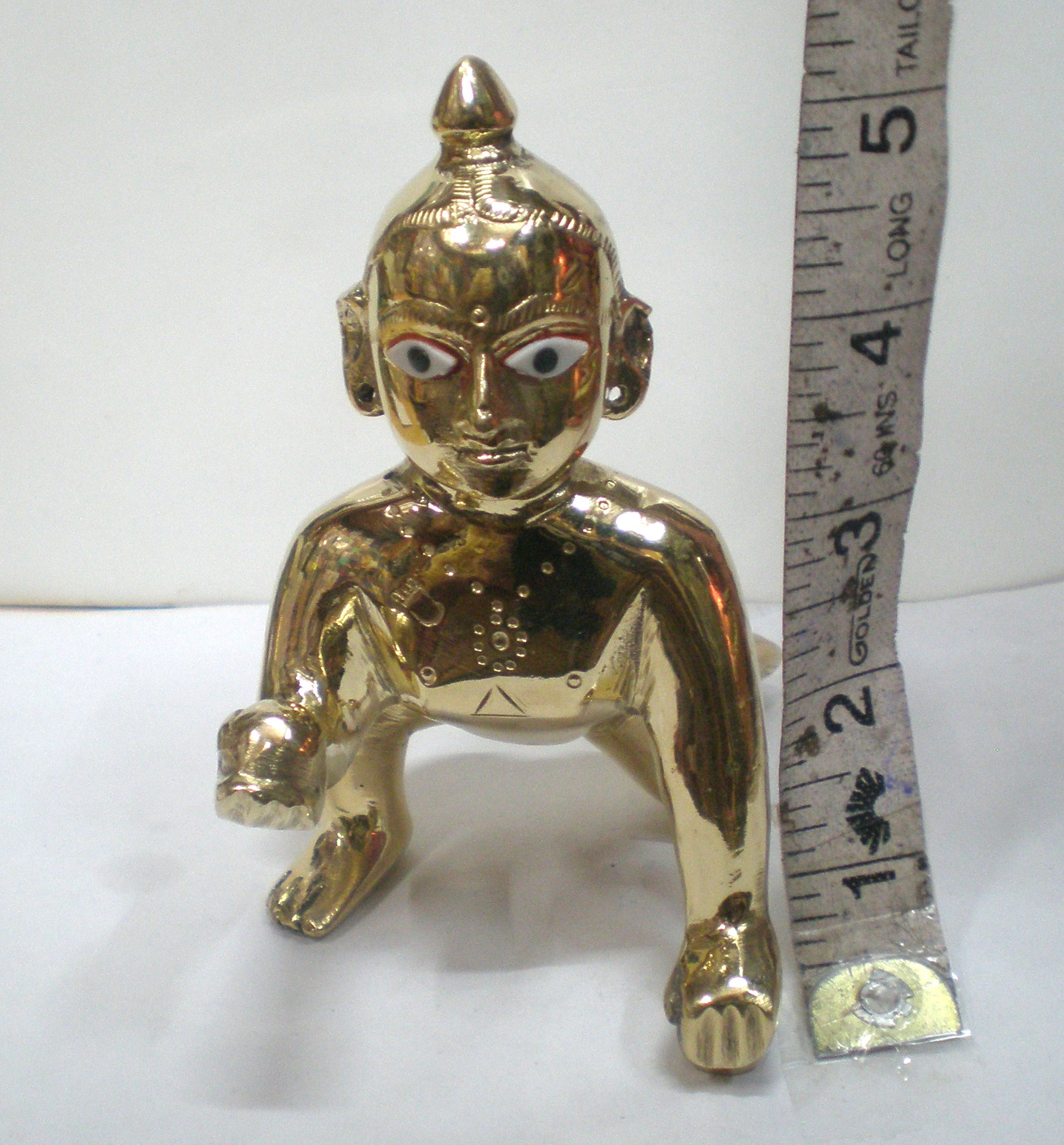 Laddu Gopal Brass Deity Measurement