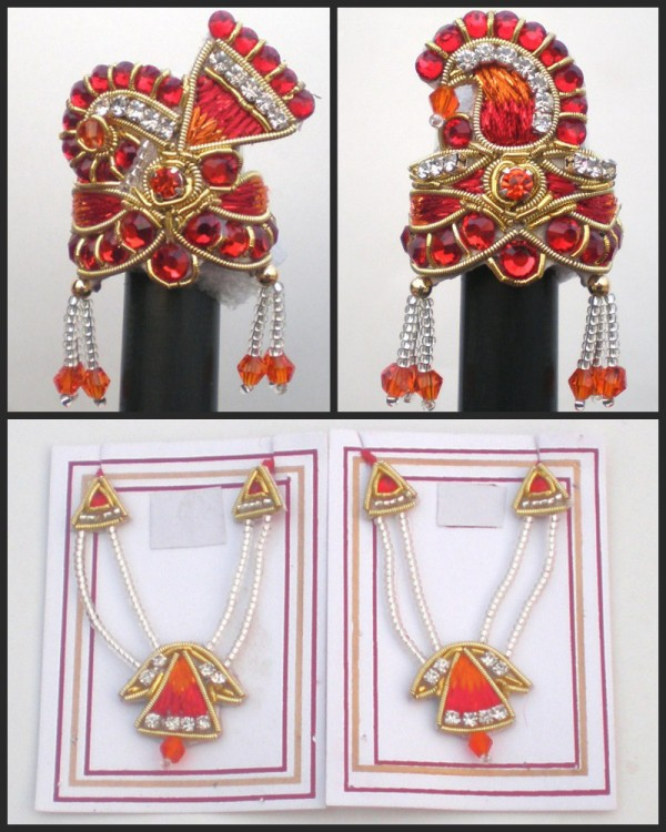 Radha Krishna Crown Necklace Jewelry ROTD 10