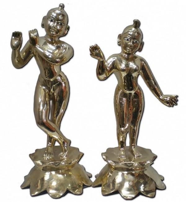 Radha Krishna Deities 16 Inches No Clothes