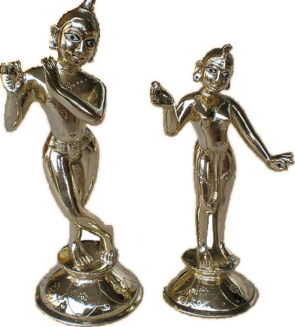 Radha Krishna Deities 9.5 Inches No Clothes