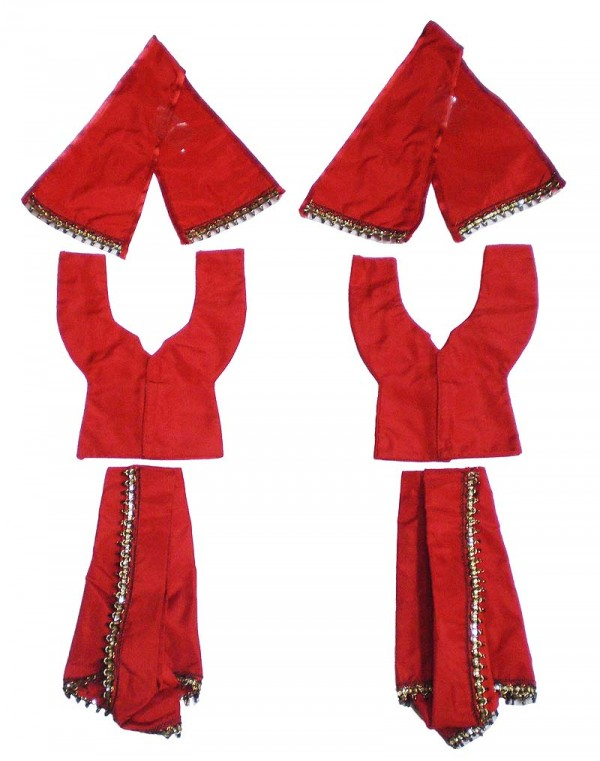 Gaura Nitai Night Dress Red