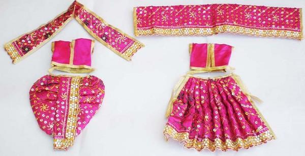Radha Krishna Dress With Sequins -- Purple
