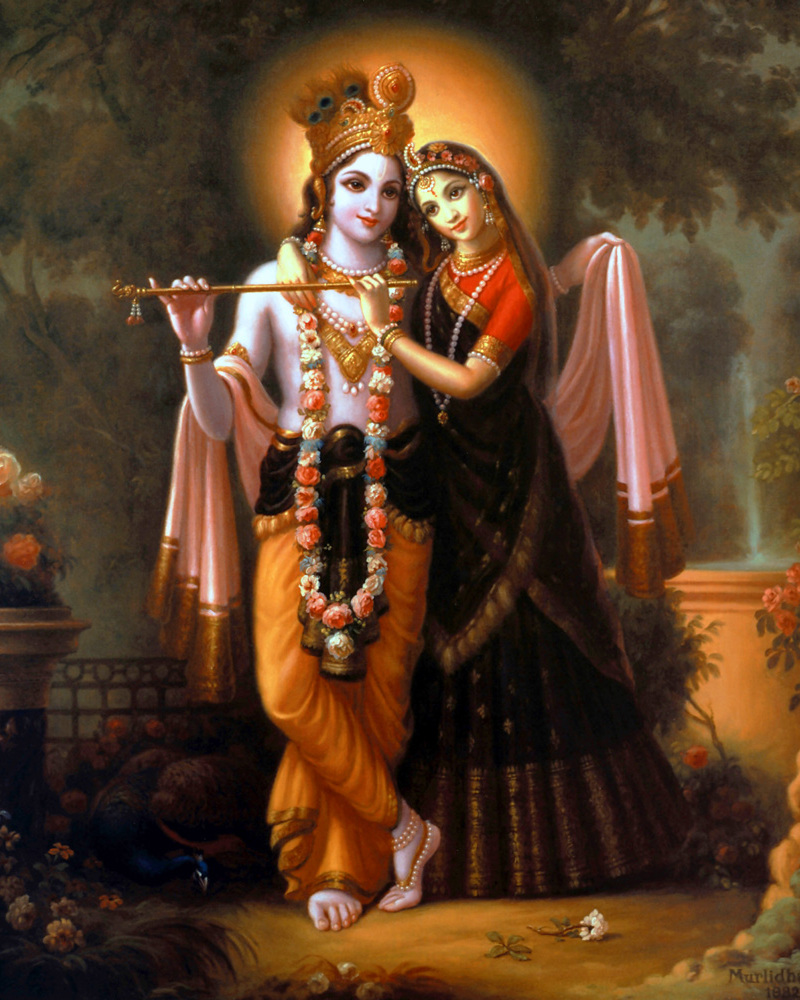 Radha and Krishna Painting - Art Poster
